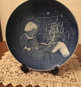 Декоративная настенная тарелка . Дания. 1978 год.