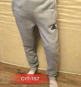Штаны спортивные утепленные мужские Adidas Баталы