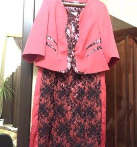 костюм двойка (платье и пиджак)
