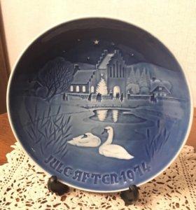 Декоративная тарелка. Дания. 1974 год.