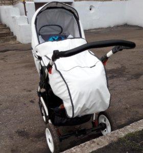 Детская коляска 2в1 (ЭКОКОЖА)