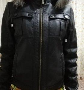 Куртка кожаная в отличном состоянии