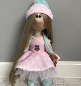 "Кукла ""Зефирка"" и ее милый мишка"