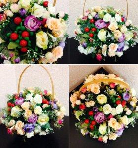 Топиарии и цветочные композиции