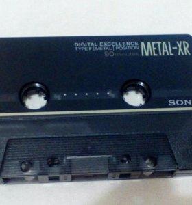 Аудиокассеты б.у, металл, хром, железо