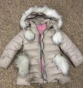 Зимняя курточка удлинённая