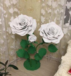 Интерьерная композиция. Розы из фоамирана