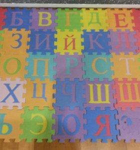 Мягкий коврик пазл  алфавит