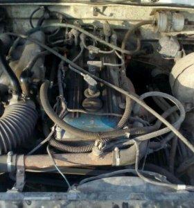 Двигатель 406 вместе с газ3110 на ходу