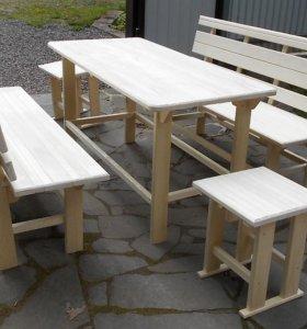 Скамьи и столы для бани