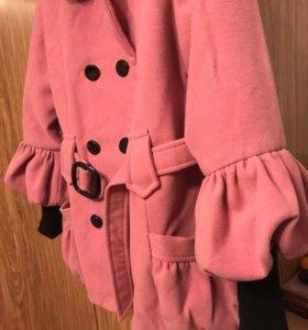 Пальто драповое детское