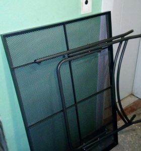 Стол металлический дачный