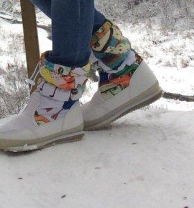 Обувь зимняя дутыши