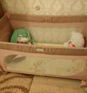 Манеж кровать детская трость Happy baby