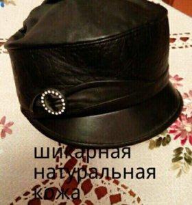 Шляпка женская натуральная кожа