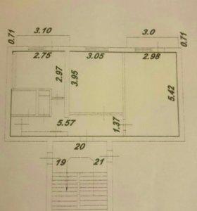 Квартира, 2 комнаты, 47.4 м²