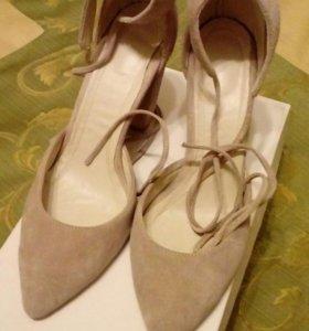 Туфли из натуральной замш