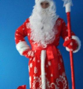 Костюм Деда Мороза и наряд Снегурочки Изысканные
