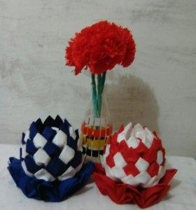 Набор салфеток,цветы и розочки из салфеток