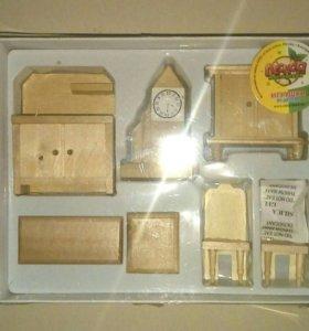 Мебель игрушечная из дерева