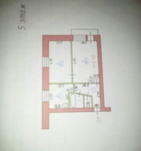 Квартира, 2 комнаты, 36.9 м²