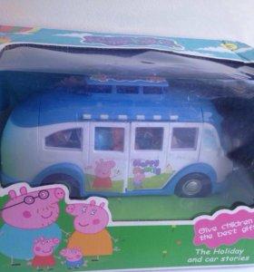 Новая игрушка автобус свинка пеппа и ее семья