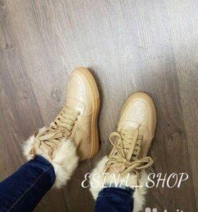Новые зимние ботинки Gucci