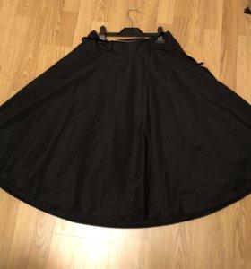 Чёрная юбка 44 размер
