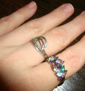 Нереально красивое кольцо,новое!серебро