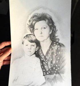 Рисунок на заказ(портрет)