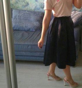 Синяя юбка пачка Befree