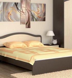 Кровать 160 с матрасом и ортопедическим основанием