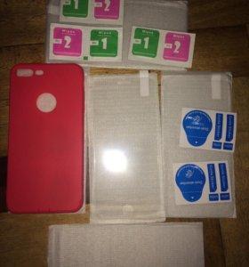 Чехол и защитные стекла на IPhone 7 Plus 📱