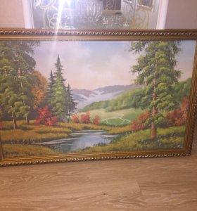 Картина в багетной рамке