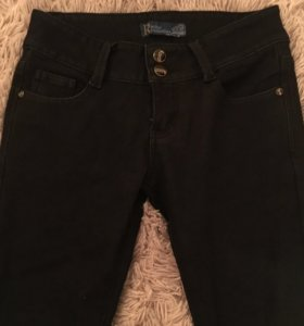 Новые черные джинсы на флисе