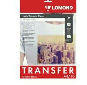 Бумага термотрансферная LOMOND для светлых тканей,