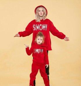 Новогодний комплект для мамы и дочки