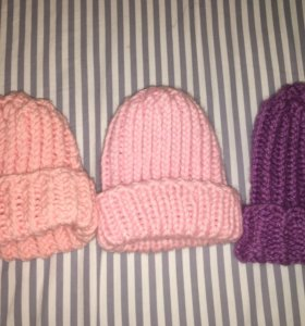 Вязаные шапки и снуды на заказ