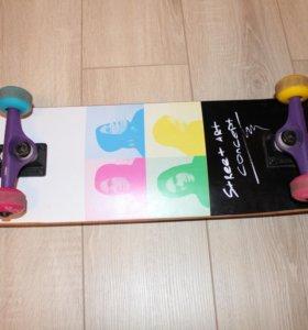 Скейтборд и чехол для него фирмы bone