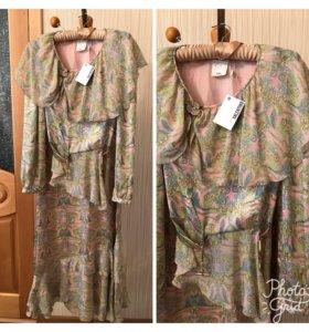 Костюм ( блузка и юбка). Производство: Италия.