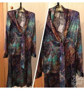 Костюм (блузка и юбка). Производство: Италия.