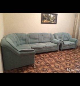 Угловой диван + полудиван (кресло)