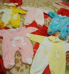 Комбинезоны для новорожденых от 0-3 месяцев