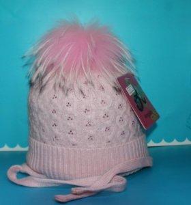 Детская шапка Angillini pink 6113