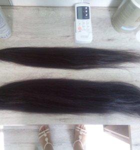 Волосы чёрные для наращивание 160 капсул