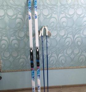 Беговые лыжи (комплект)