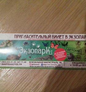 Пригласительный билет в Экзопару