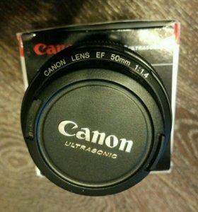 Портретный объектив Canon EF 50mm 1.4 USM