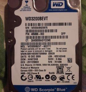 Продам жесткий диск на ноутбук 320gb