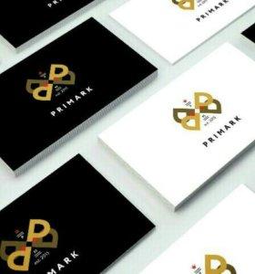 Дизайн визиток , листвок и т.д.